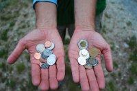 Pieniądze na rękach